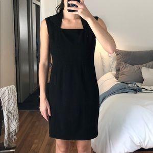 Black Andrew Marc dress with collared neck
